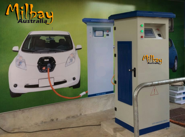 Milbay commercial electric vehicle DC charge station Australia