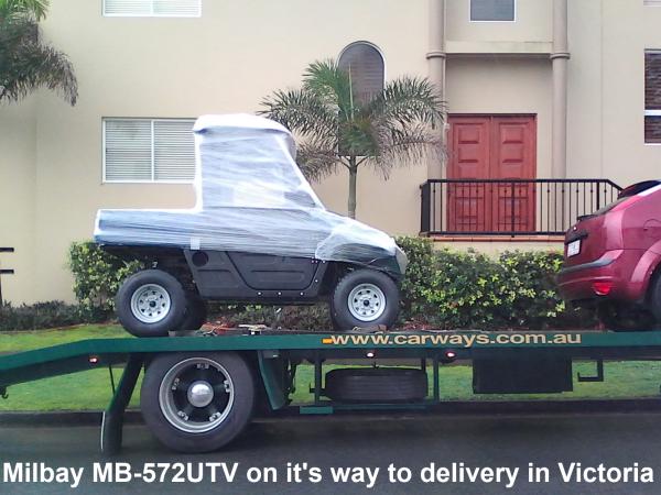 Milbay MB572UTV electric UTV transport to Victoria