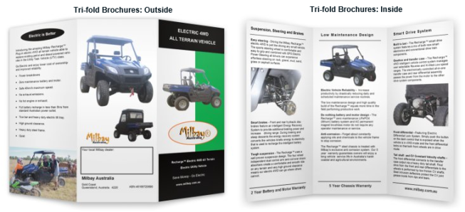 Milbay Recharge All Terrain 4WD Electric Utility Vehicle TriFold Product Brochure